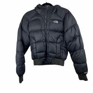 North Face Goose Down Puffer Bomber Jacket Small
